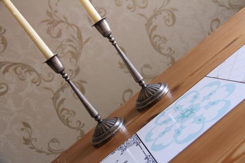 castiçais prata 90 ( par ) - origem bristol - anos 60