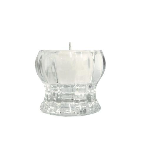 castiçal de vidro transparente giuliana home  sl0098
