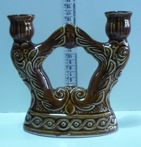 castiçal em porcelana