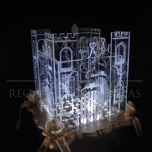 castillo + ceremonia de velas + pergaminos de regalo