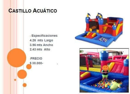 castillo de agua inflable