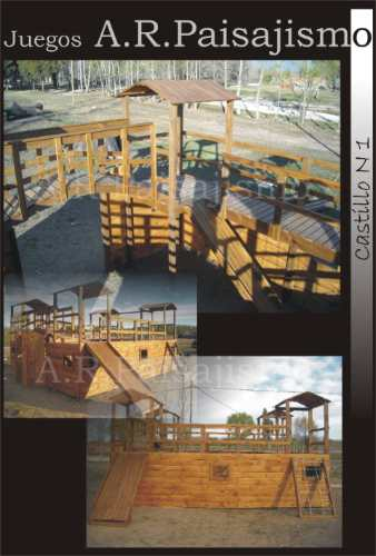 Castillo de madera para chicos tobogan estilo fuerte - Pegamento fuerte para madera ...