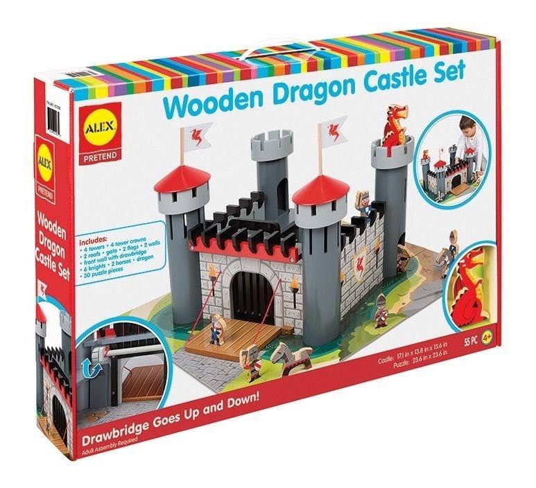 Castillo Del Dragon Grande Madera Armable 55 Pzs Alex Brand