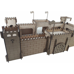 Castillo Fuerte Medieval Fibrofacil  Muy Lindo