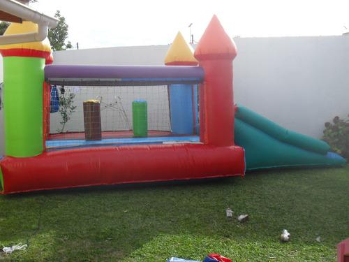 castillo inflable 4x3 mas tobogan con turbina y garantia