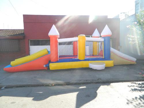 castillo inflable 4x3,20 + tobogan  turbina 3 años garantia