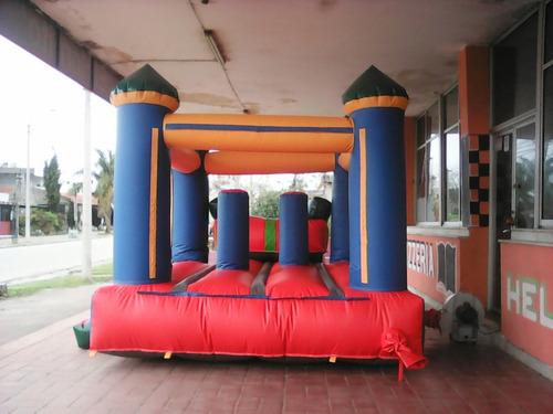 castillo inflable 5x 3  con tobogan  y turbina