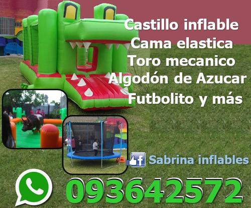 castillo inflable ,cama elastica y mas