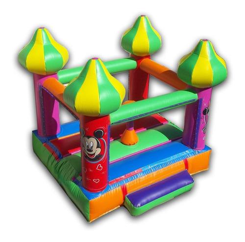 castillo inflable con  turbina inflable..