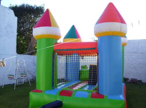 castillo inflable de 3x3 con turbina incluida oferta