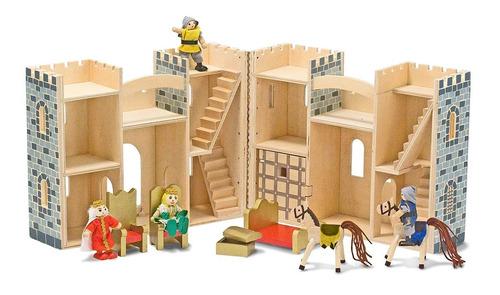 castillo medieval de madera melissa & doug. juguetes.
