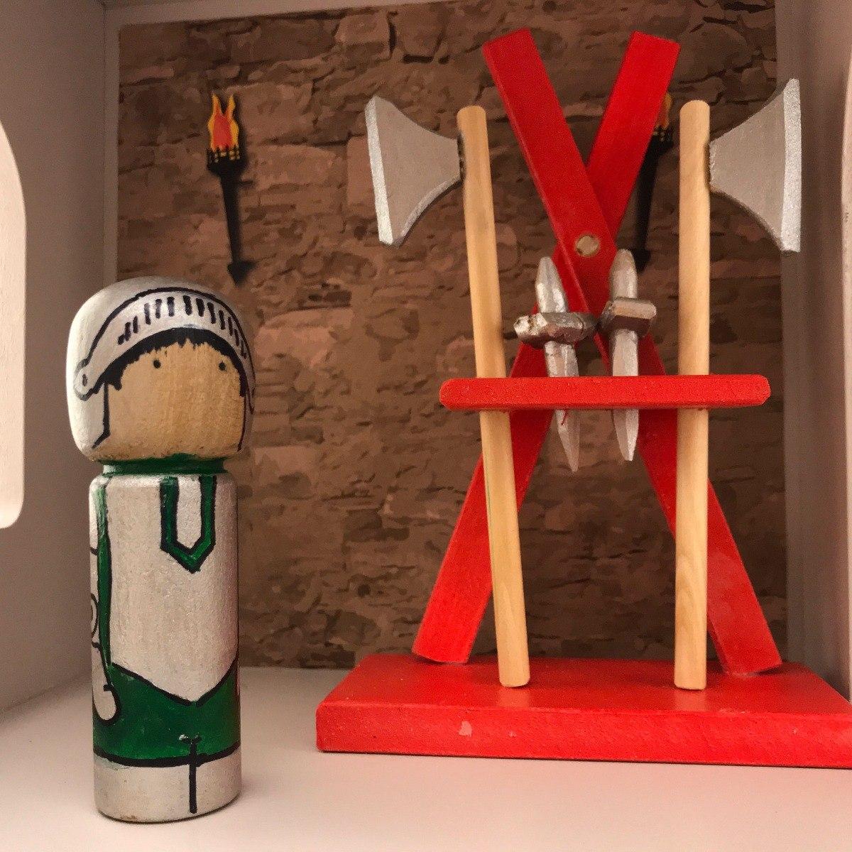 Castillo Medival Fuerte Personajes Muebles Casa Juguetes  # Muebles Waldorf