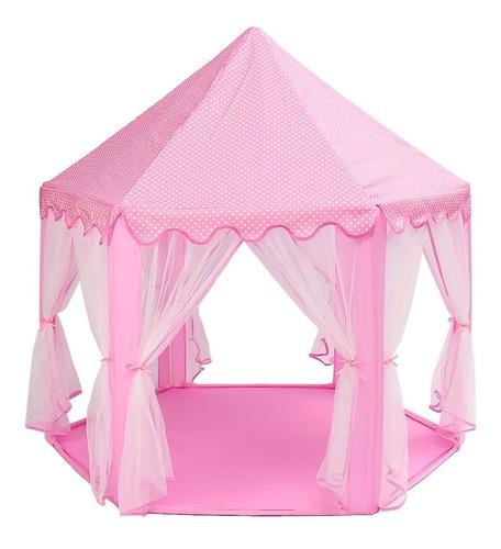 castillo princesa rosa niña casa plegable grande 135x140