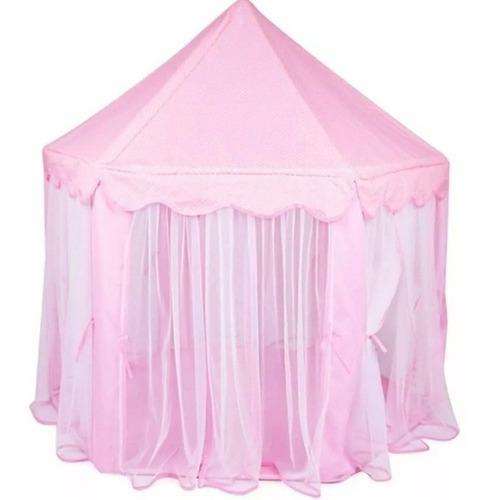 castillo princesa rosado + (luces de regalo)