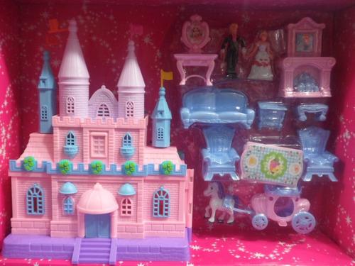 castillo princesas con muebles