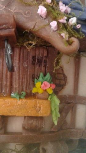 castillo rapunzel adorno en porcelana fria