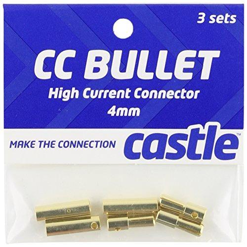 castle creations ccbul4x3 4mm bala conector 16g / 13g 75a (3