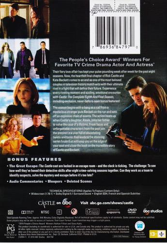 castle octava temporada ocho 8 dvd