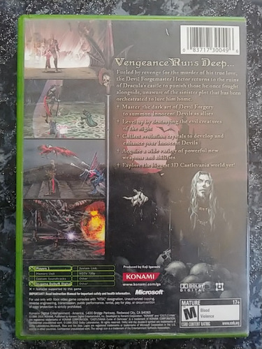 castlevania curse of darkness xbox soroush store