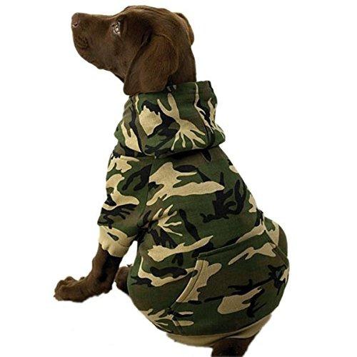 casual canine capucha de camo para los perros, 17 \grande,
