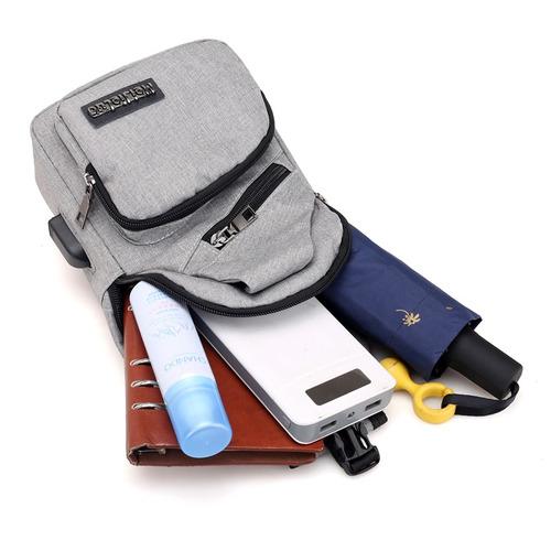casual chestpack con usb carga al aire libre ciclismo hombro