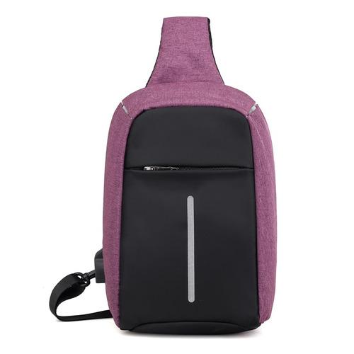 casual chestpack con usb carga al aire libre ciclismo shoule