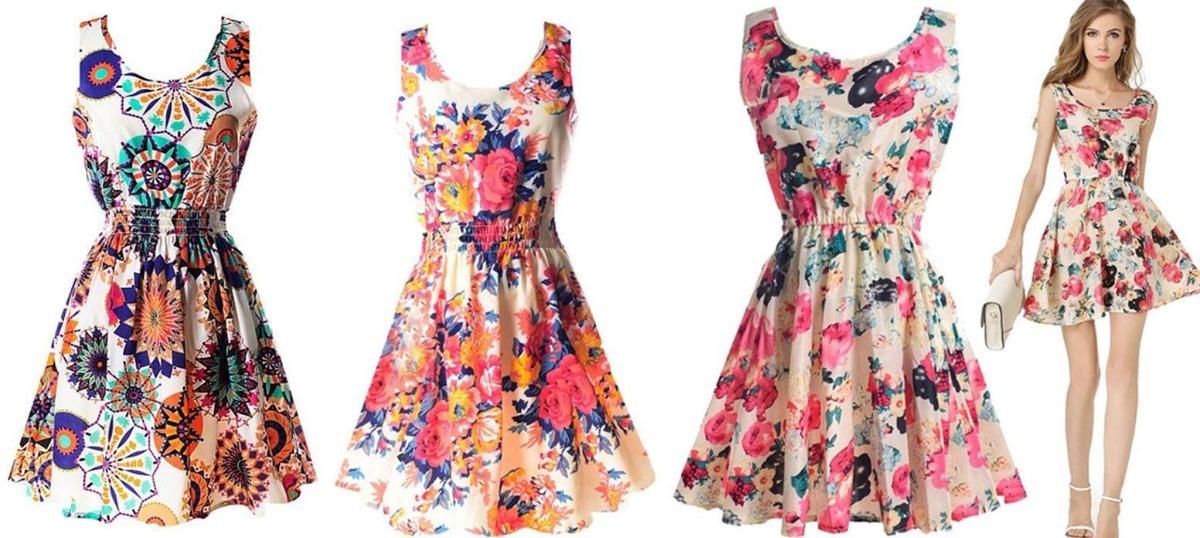 0a17c6e205e84 Vestido Casual Verano Floral Corto Moda 2019 Hermoso -   335.00 en ...