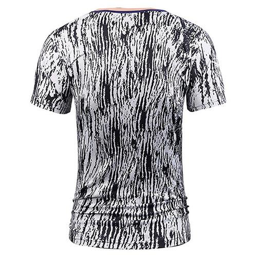 casual curto manga 3d engraçado impressão t - camisa
