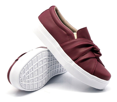 casual feminino nó moda slip on calçe facil dk shoes barato