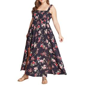 47936d5dd Casual Playa Dama Impresión Floral Fiesta Verano Mujer Falda