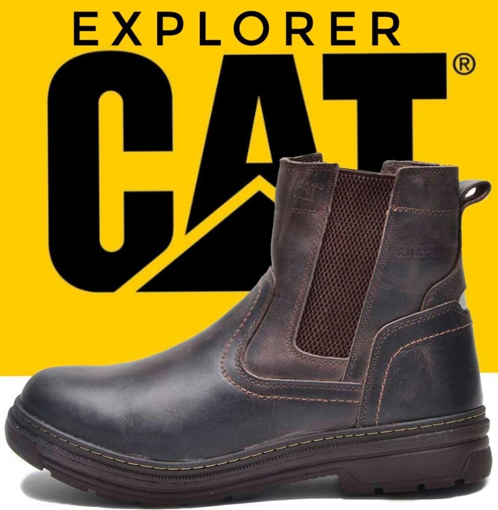8432efb46f cat bota coturno botina caterpillar original explorer couro. Carregando zoom .