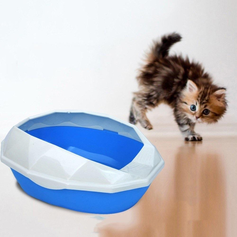 Cat Litter Box Open Top Tall Side Walls