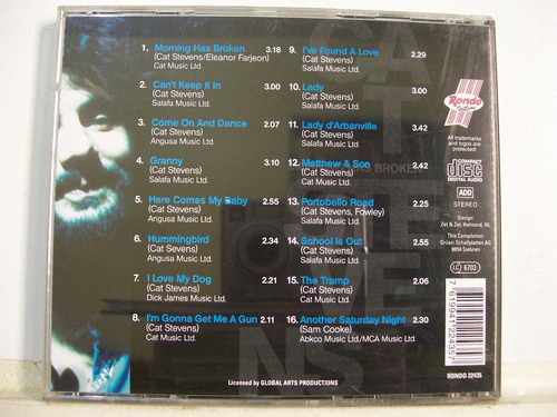 cat stevens, morning has broken, cd original importado