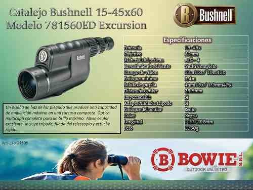 catalejo bushnell 15-45x60 excursion series 781560ed