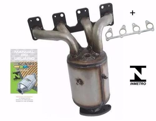 catalisador c/ coletor novo celta/meriva/agile/corsa/montana