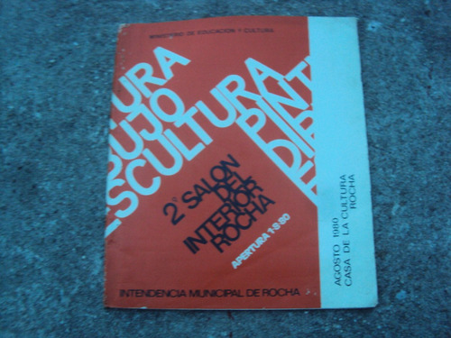 catalogo 2° salon interior rocha 1980 escultura pintura arte