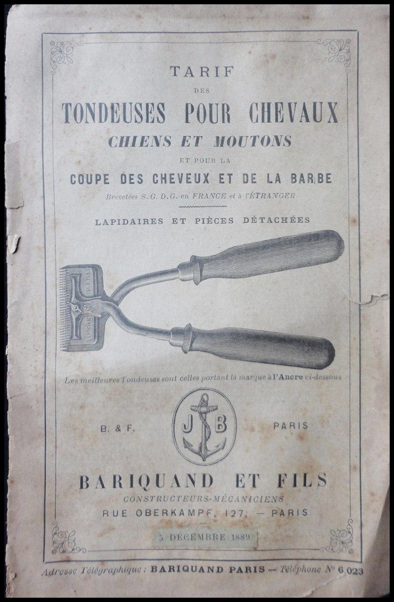3b38be197 Catálogo Antiguo De Máquinas De Barbería