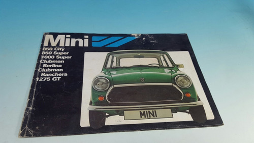 catalogo antiguo mini cooper austin morris con varios model.