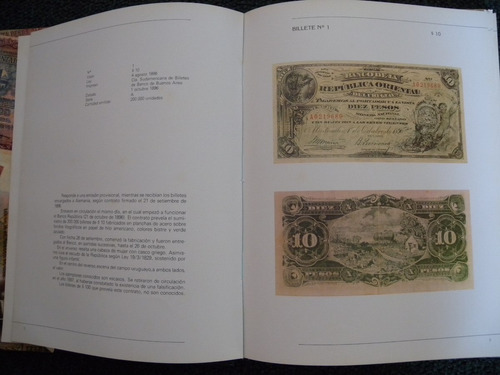 catalogo billetes del uruguay ed. banco central 1896 - 1989