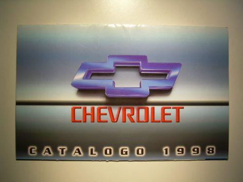 catalogo - chevrolet argentina - gama 1998 - retro vintage