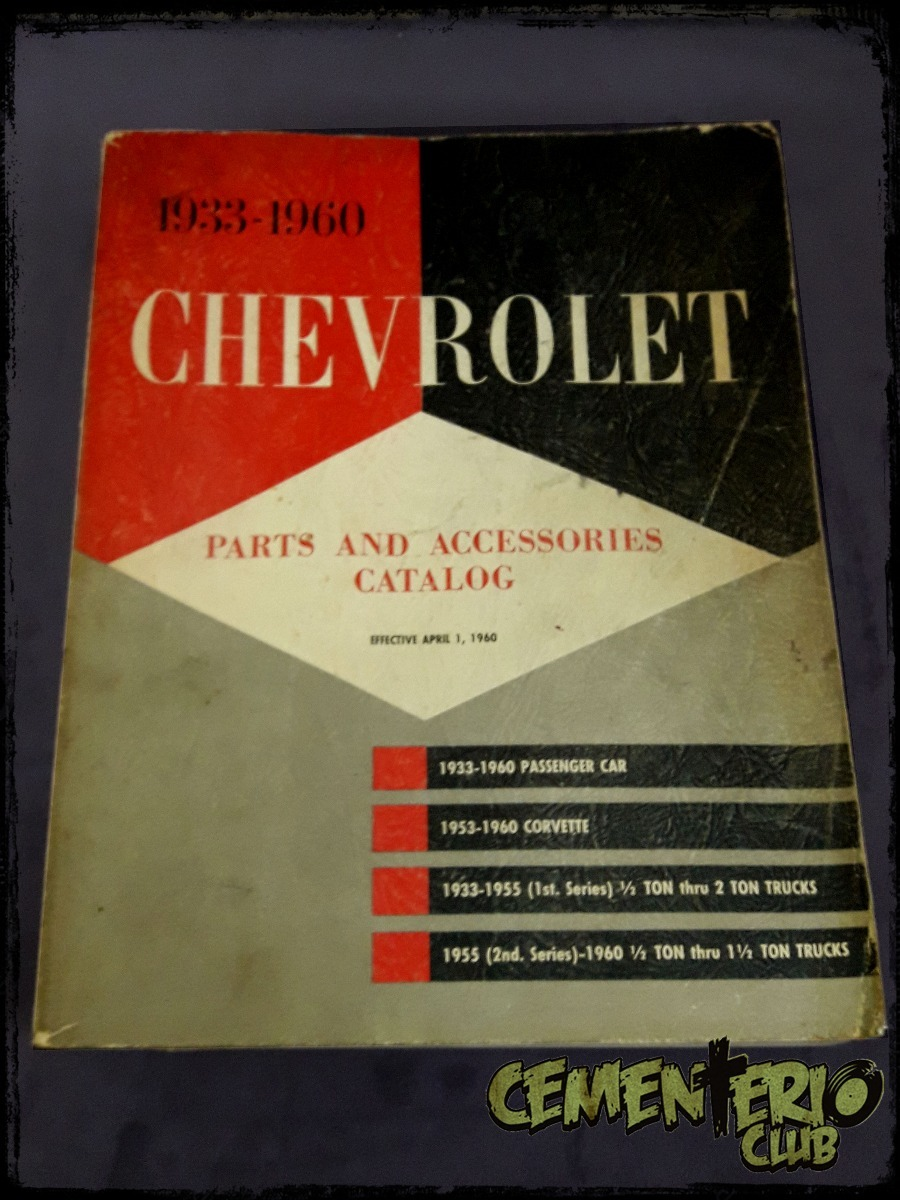 CHEVROLET PARTS MANUAL BOOK 1933-1960