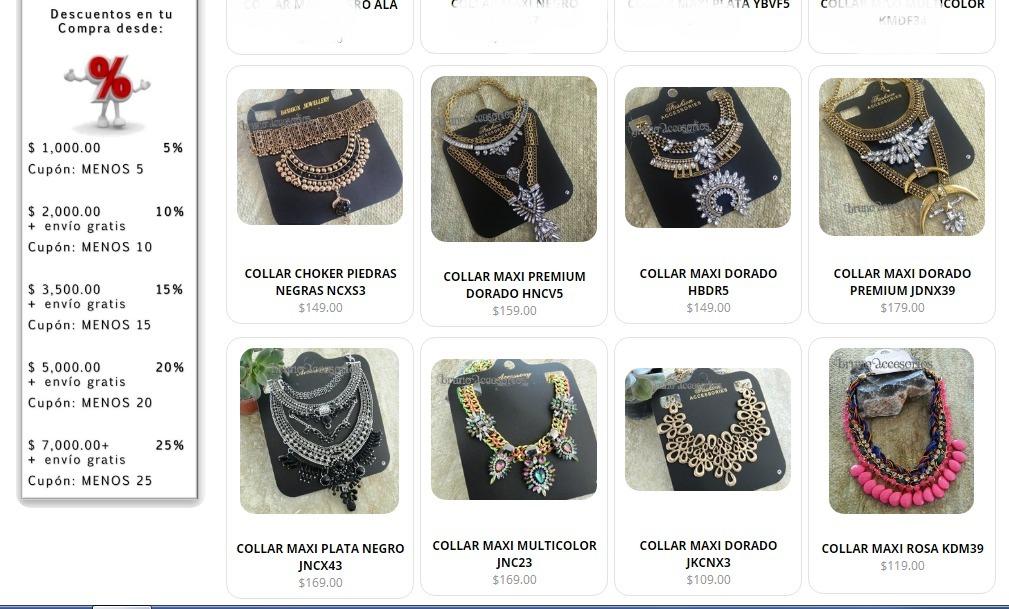 b6f5c560c884 Catálogo Collares Maxi Mayoreo Moda Outfits Regalo Bisuteria ...