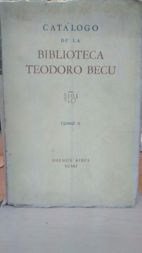 catálogo de la biblioteca teodoro becu