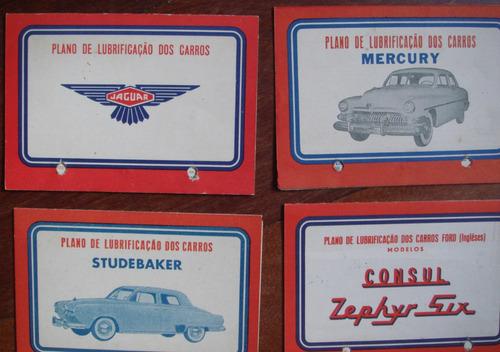 catálogo de lubrif. da mobil para carros e caminhões antigos