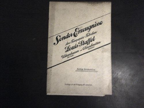 catálogo de papel alemán antiguo 1920s