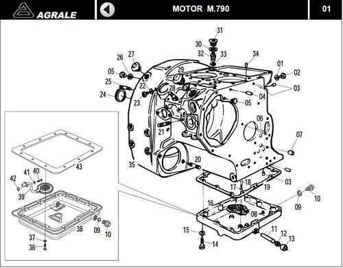 catálogo de peças motor agrale m790