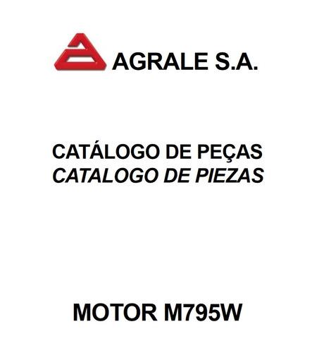catálogo de peças motor agrale m795w