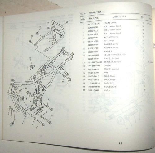 catalogo de piezas de yamaha rx100 (5j8)