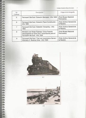 catálogo de tarjetas postales museo ferroviario pezzimenti
