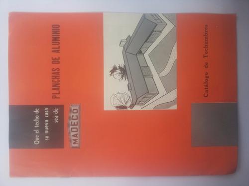 catalogo de techos. madeco. antiguo .1958.